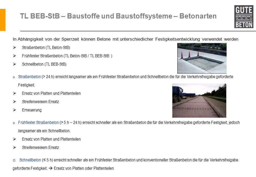 TL BEB-StB – Baustoffe und Baustoffsysteme – Betonarten