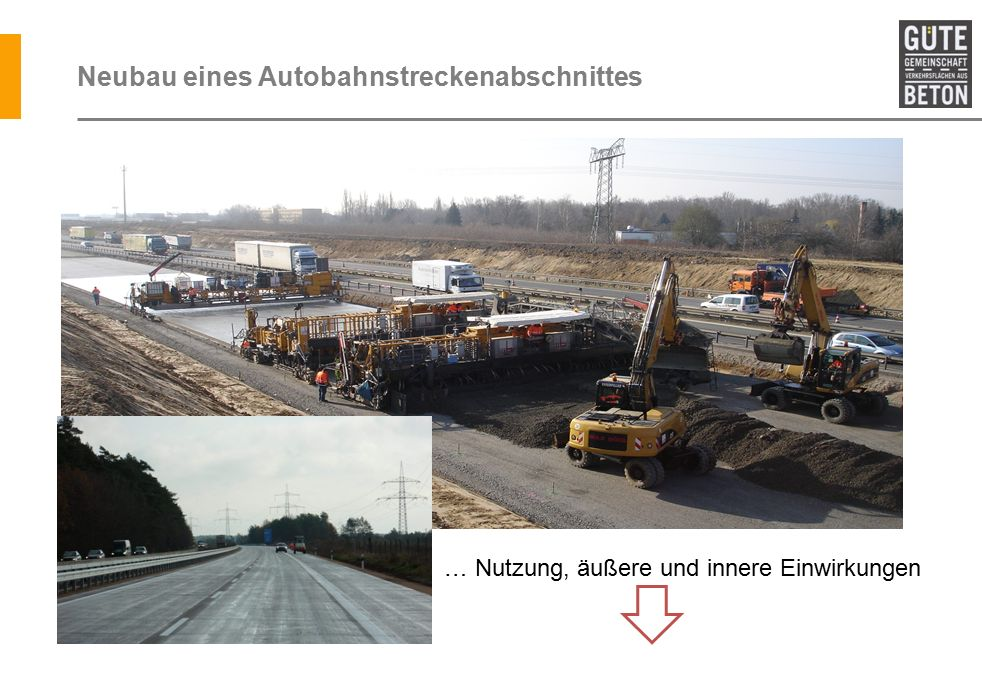 Neubau eines Autobahnstreckenabschnittes