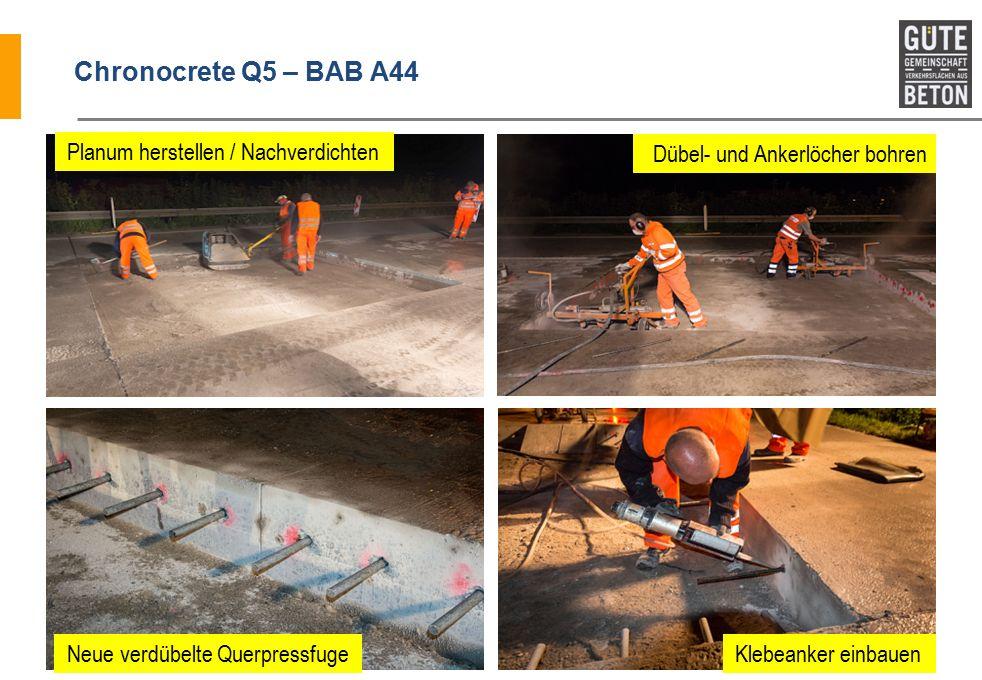 Chronocrete Q5 – BAB A44 Planum herstellen / Nachverdichten