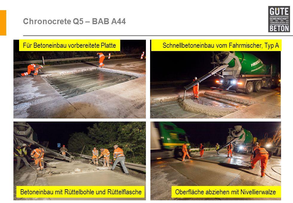 Chronocrete Q5 – BAB A44 Für Betoneinbau vorbereitete Platte