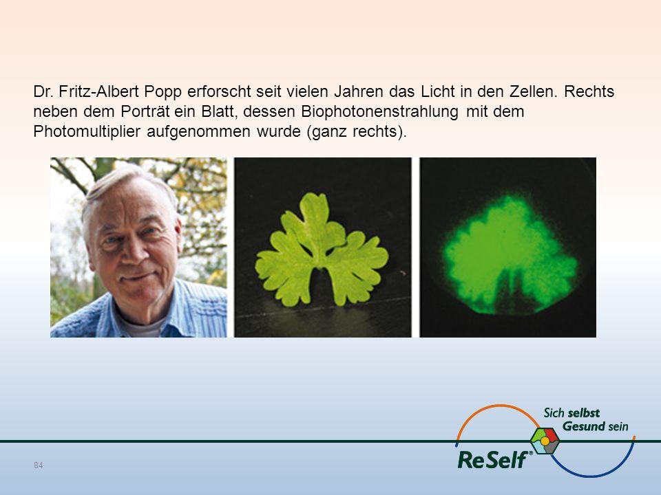 Dr. Fritz-Albert Popp erforscht seit vielen Jahren das Licht in den Zellen.