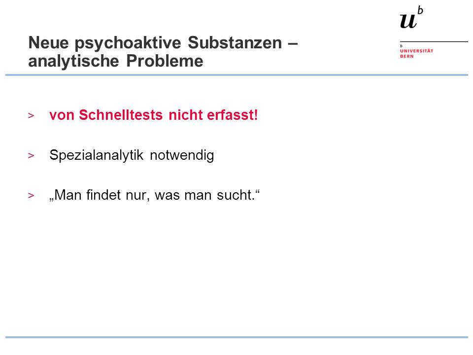 Neue psychoaktive Substanzen – analytische Probleme