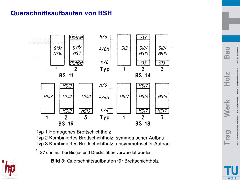 Querschnittsaufbauten von BSH