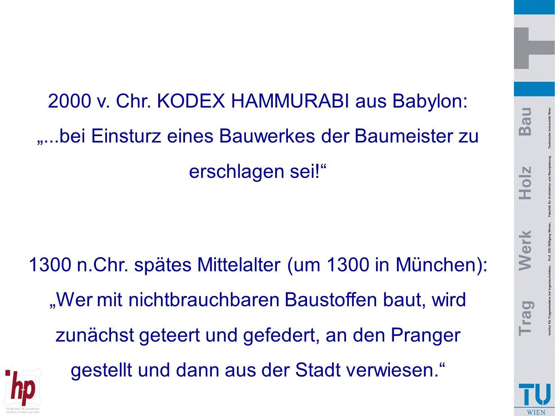 """2000 v. Chr. KODEX HAMMURABI aus Babylon: """""""