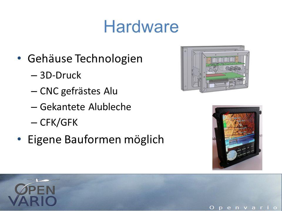 Hardware Gehäuse Technologien Eigene Bauformen möglich 3D-Druck