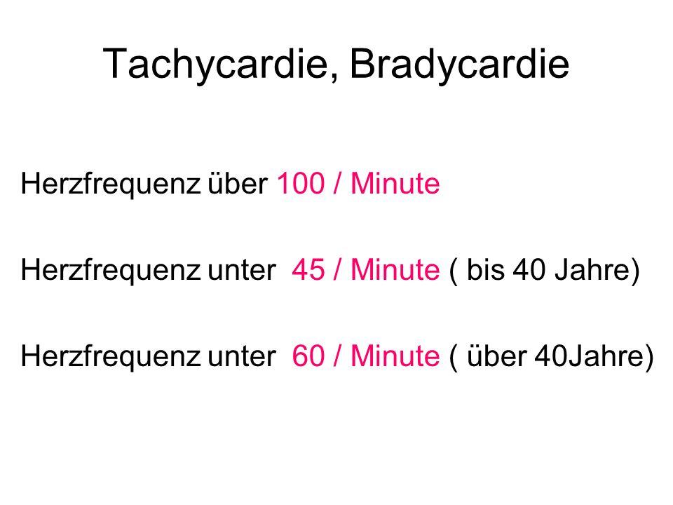 Tachycardie, Bradycardie