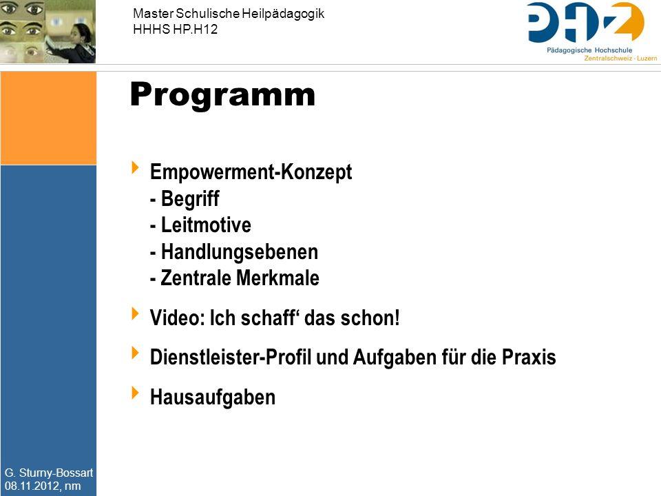 Programm Empowerment-Konzept - Begriff - Leitmotive - Handlungsebenen - Zentrale Merkmale. Video: Ich schaff' das schon!