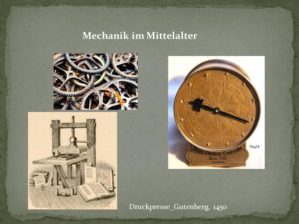 Mechanik im Mittelalter
