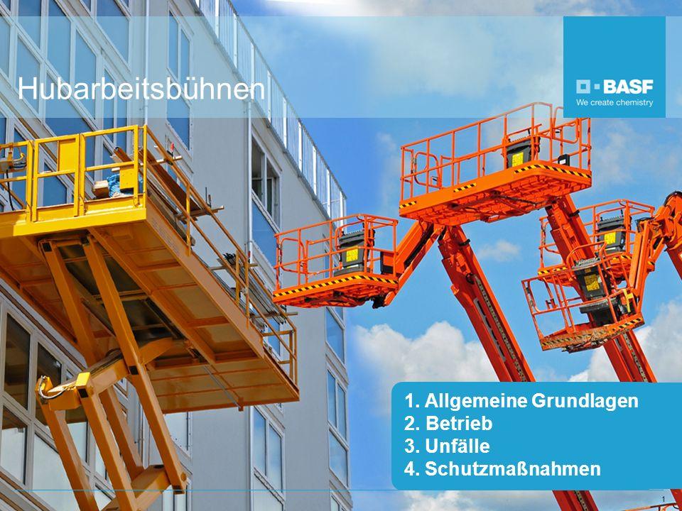 Hubarbeitsbühnen 1. Allgemeine Grundlagen 2. Betrieb 3. Unfälle