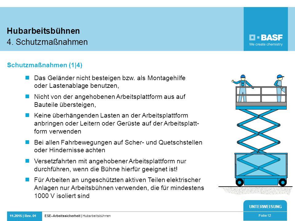 Hubarbeitsbühnen 4. Schutzmaßnahmen Schutzmaßnahmen (1|4)