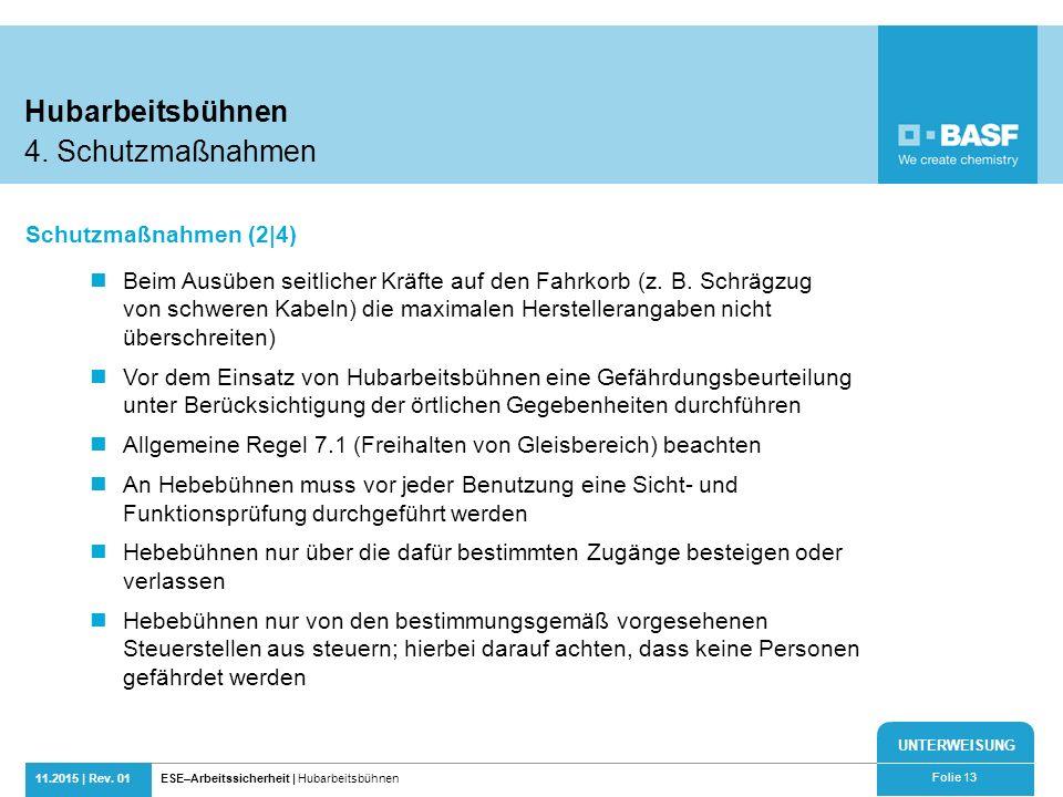 Hubarbeitsbühnen 4. Schutzmaßnahmen Schutzmaßnahmen (2|4)