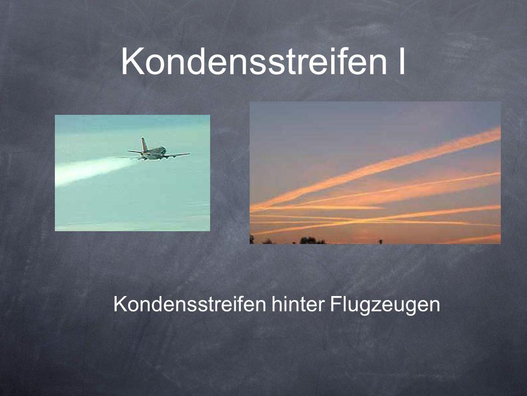 Kondensstreifen hinter Flugzeugen