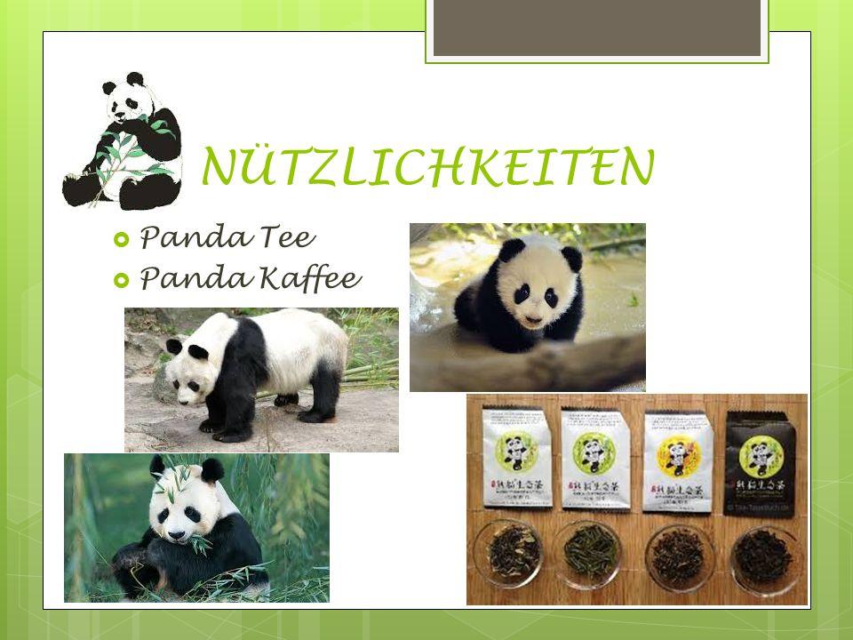 NÜTZLICHKEITEN Panda Tee Panda Kaffee