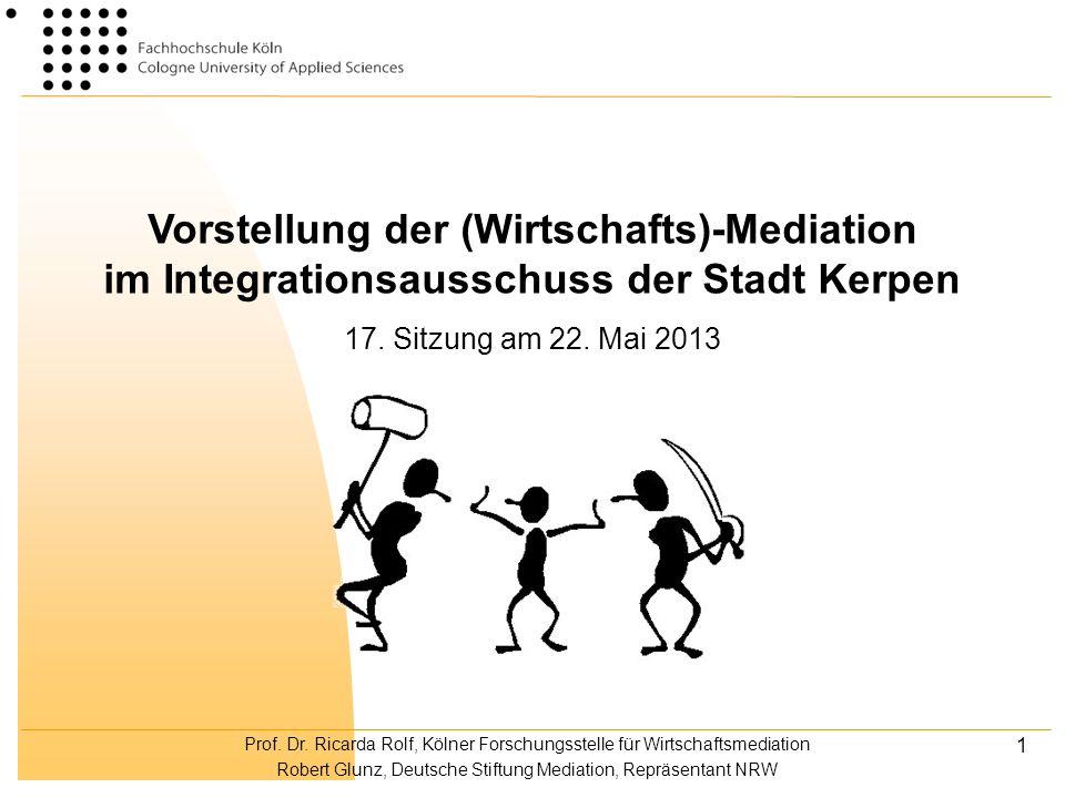 Vorstellung der (Wirtschafts)-Mediation im Integrationsausschuss der Stadt Kerpen