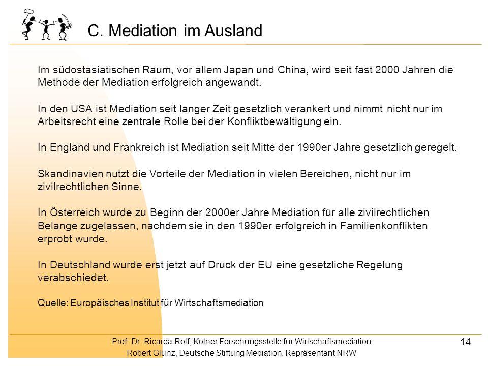 C. Mediation im Ausland