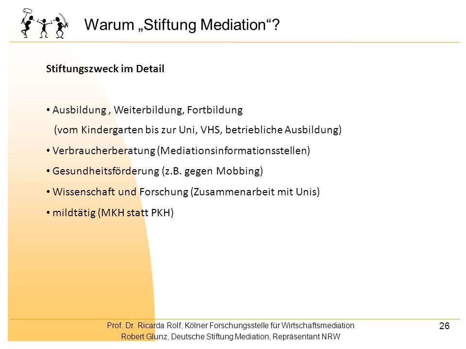 """Warum """"Stiftung Mediation"""