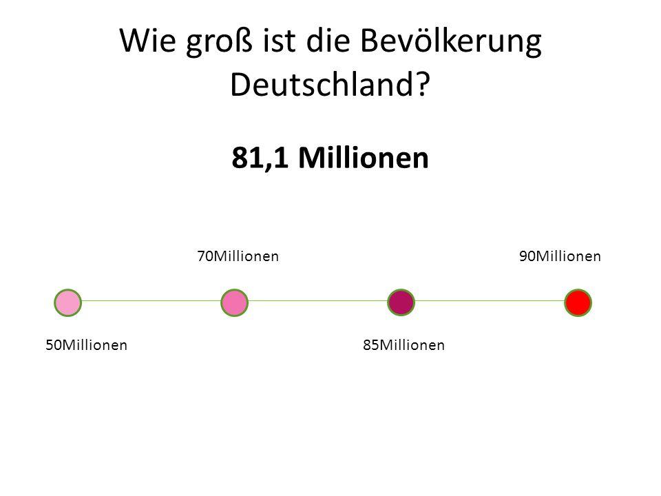Wie groß ist die Bevölkerung Deutschland