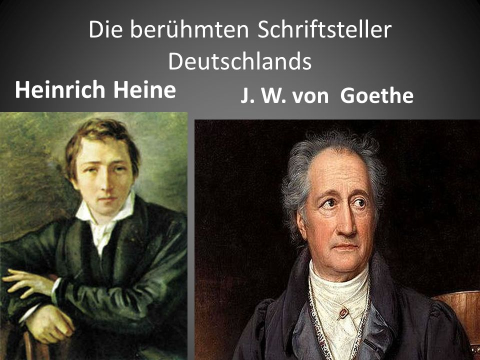 Die berühmten Schriftsteller Deutschlands