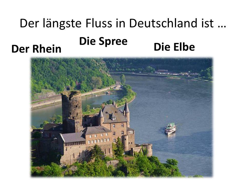 Der längste Fluss in Deutschland ist …