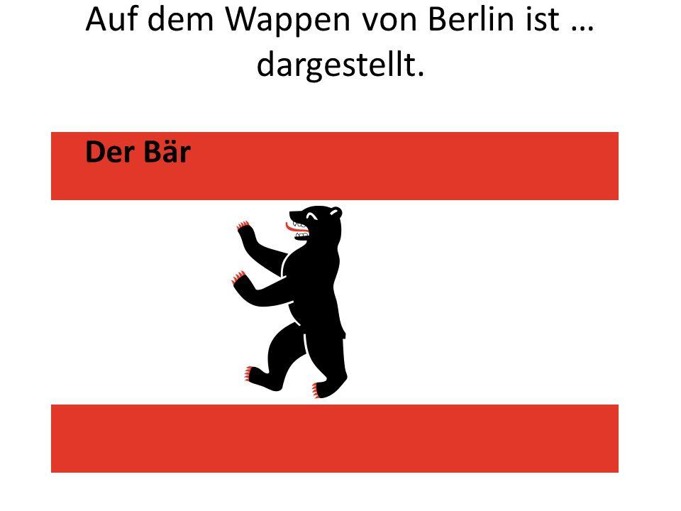 Auf dem Wappen von Berlin ist … dargestellt.