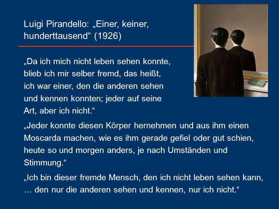 """Luigi Pirandello: """"Einer, keiner, hunderttausend (1926)"""