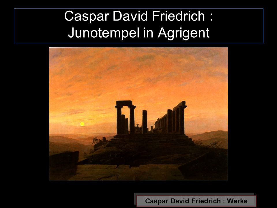 Caspar David Friedrich : Junotempel in Agrigent