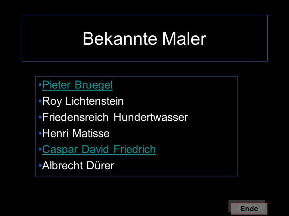 Bekannte Maler Pieter Bruegel Roy Lichtenstein