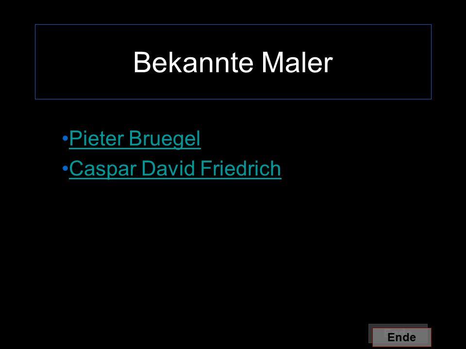 Pieter Bruegel Caspar David Friedrich