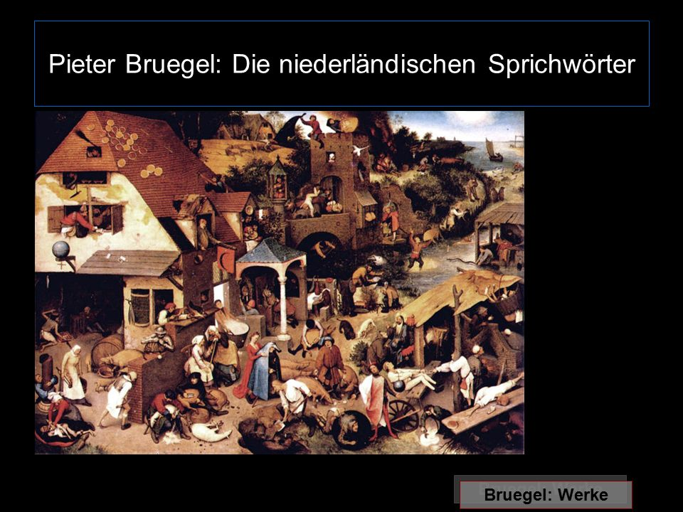 Pieter Bruegel: Die niederländischen Sprichwörter