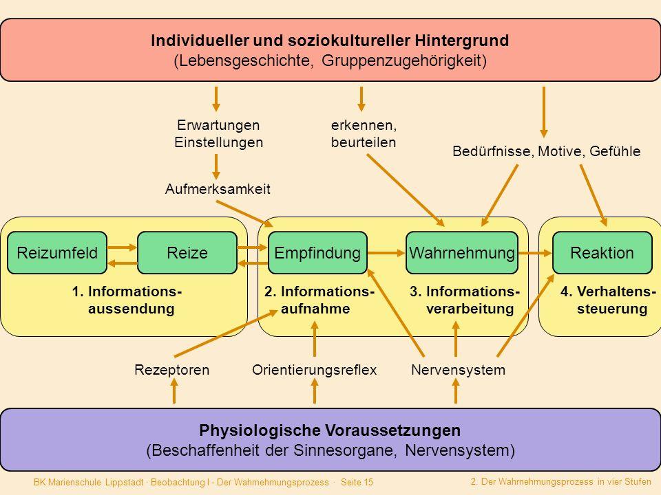 Individueller und soziokultureller Hintergrund