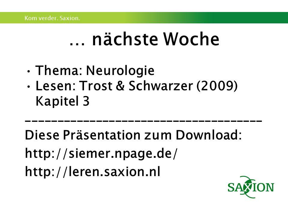 … nächste Woche Thema: Neurologie