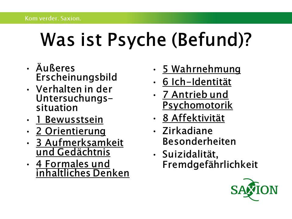 Was ist Psyche (Befund)