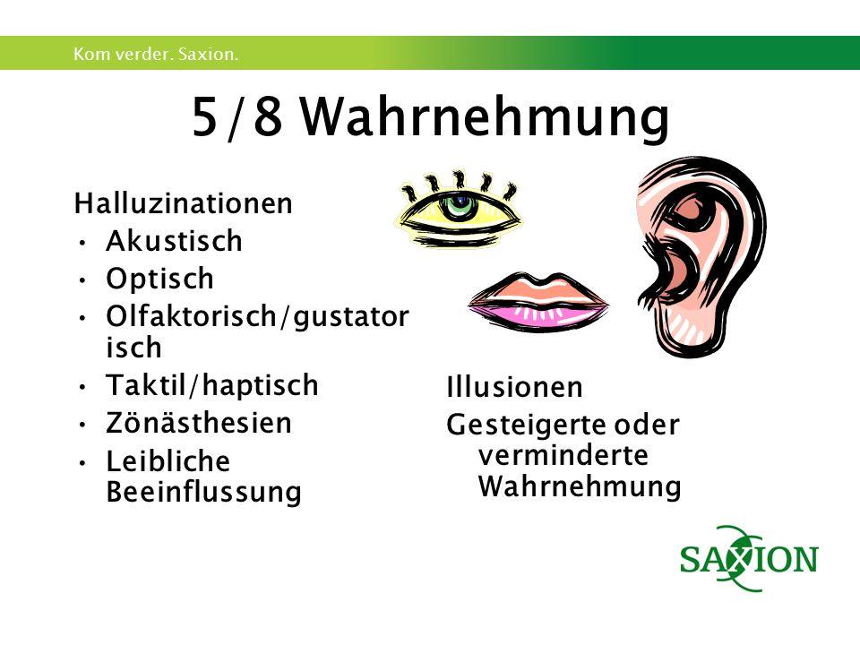 5/8 Wahrnehmung Halluzinationen Akustisch Optisch