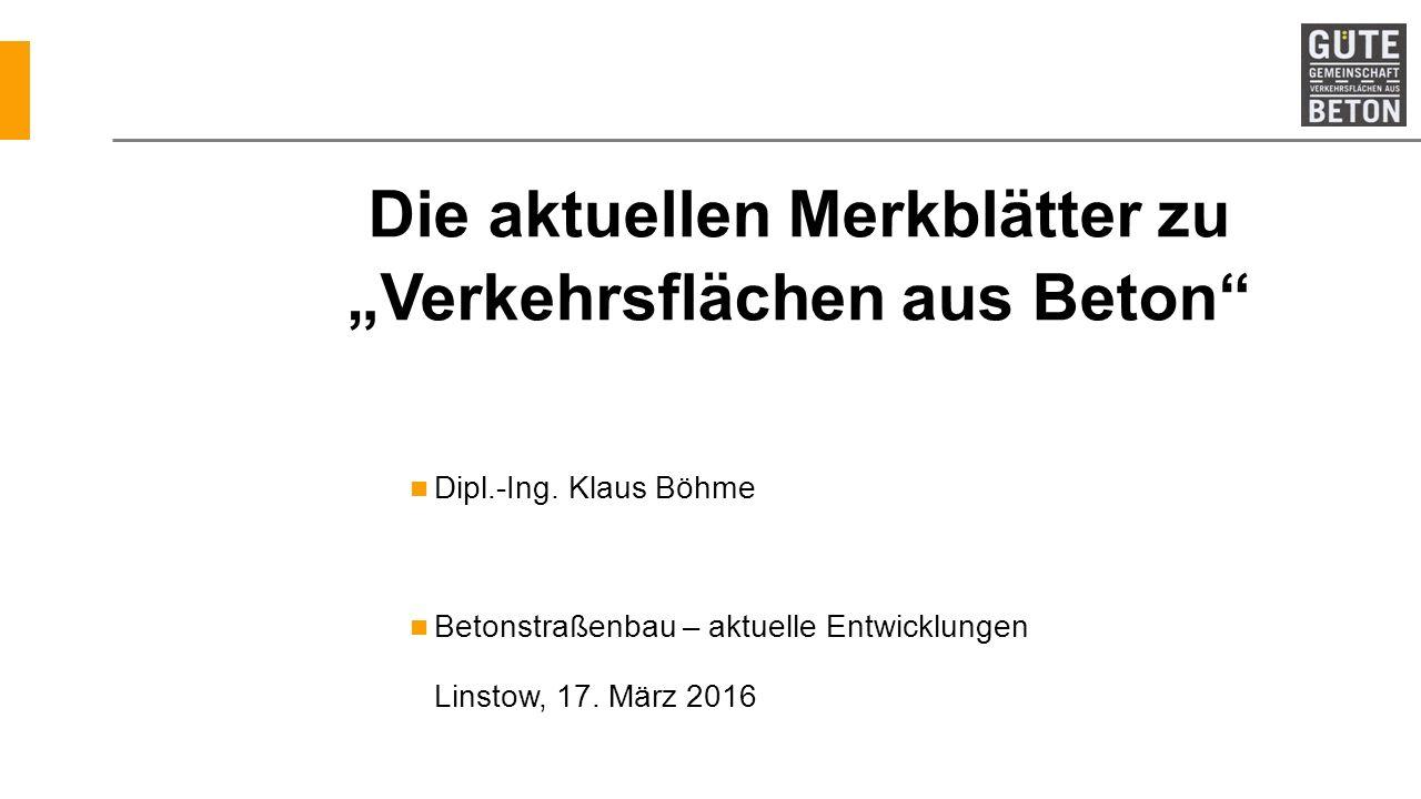 "Die aktuellen Merkblätter zu ""Verkehrsflächen aus Beton"