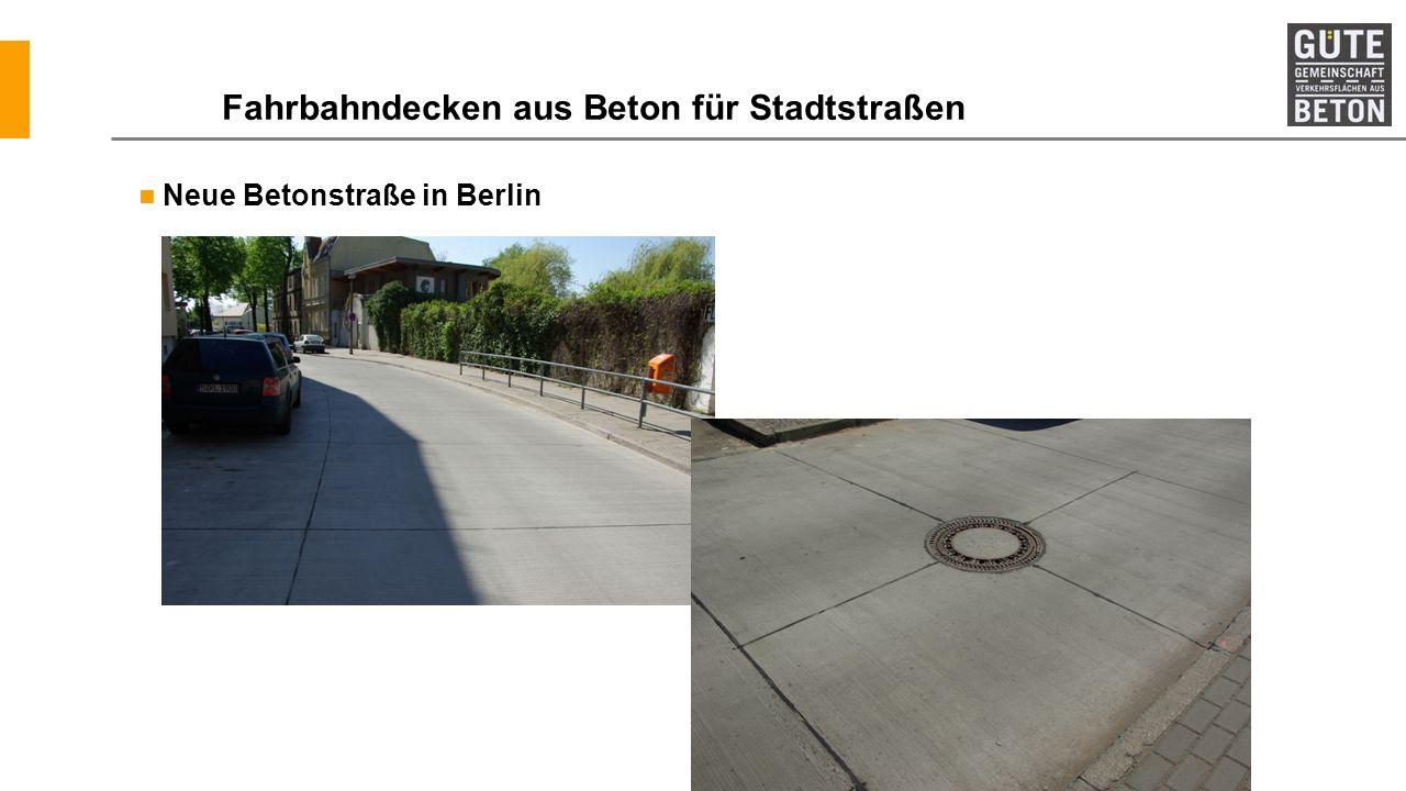Fahrbahndecken aus Beton für Stadtstraßen
