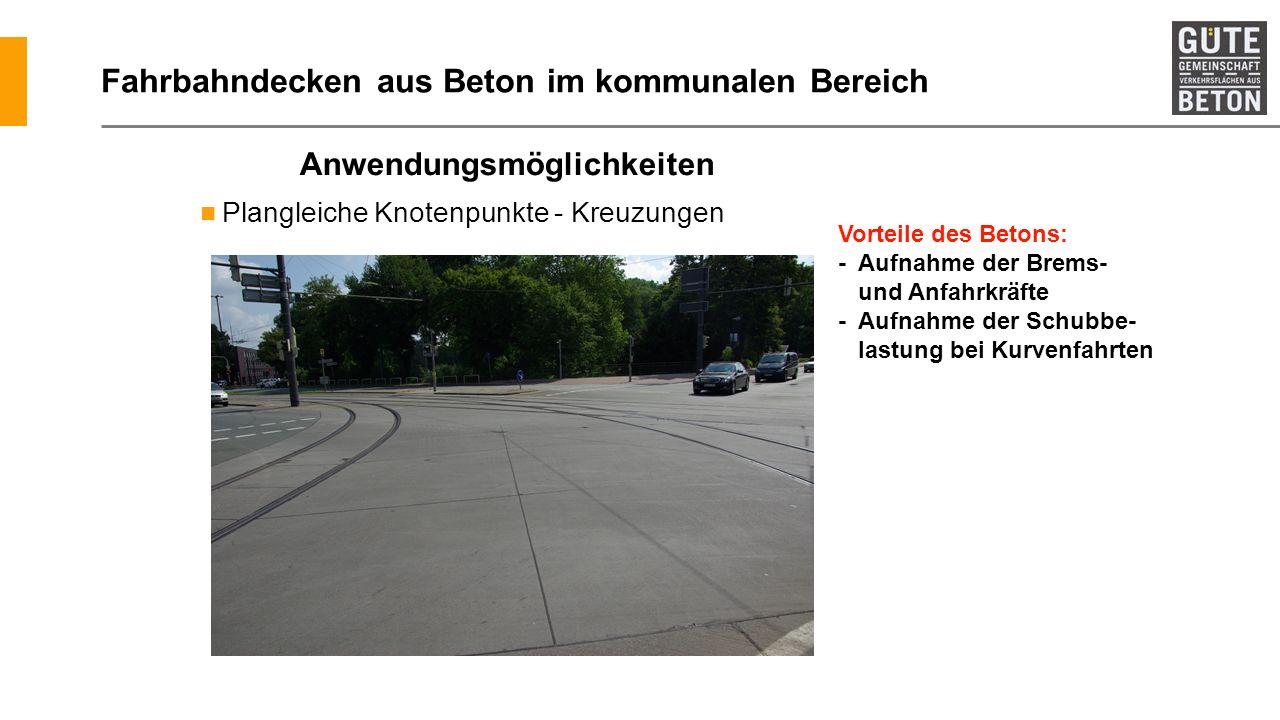 Fahrbahndecken aus Beton im kommunalen Bereich