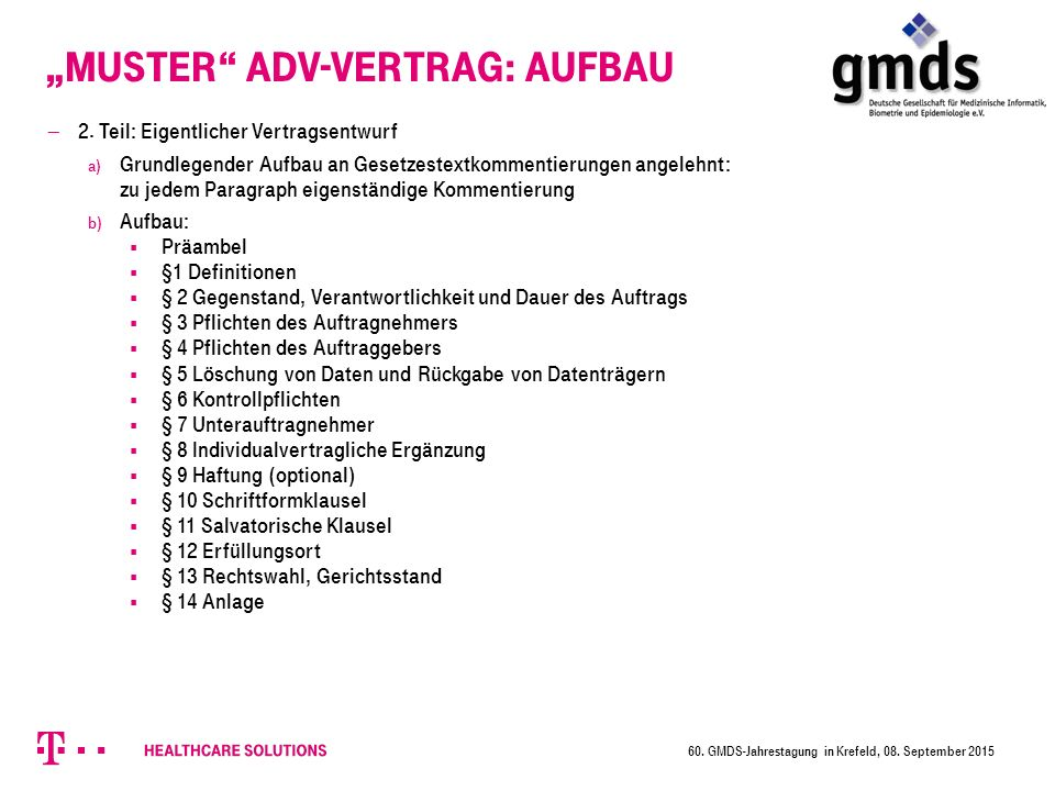 """Muster ADV-Vertrag: Aufbau"