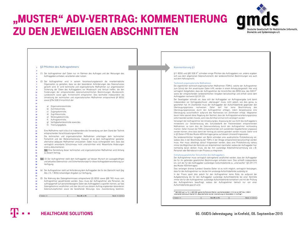 """""""Muster ADV-Vertrag: Kommentierung zu den jeweiligen Abschnitten"""