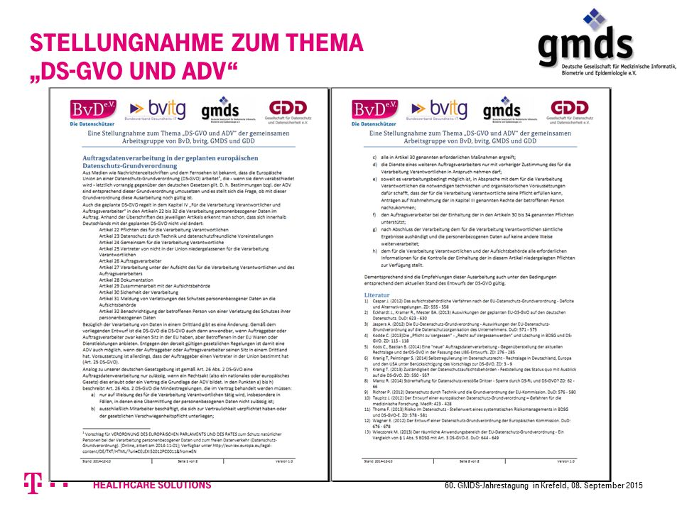 """Stellungnahme zum Thema """"DS-GVO und ADV"""