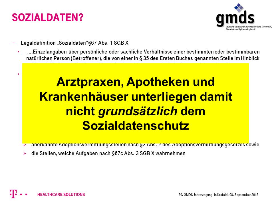 "Sozialdaten Legaldefinition ""Sozialdaten §67 Abs. 1 SGB X."