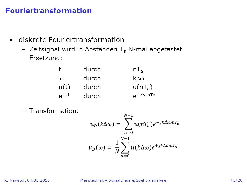 Fouriertransformation