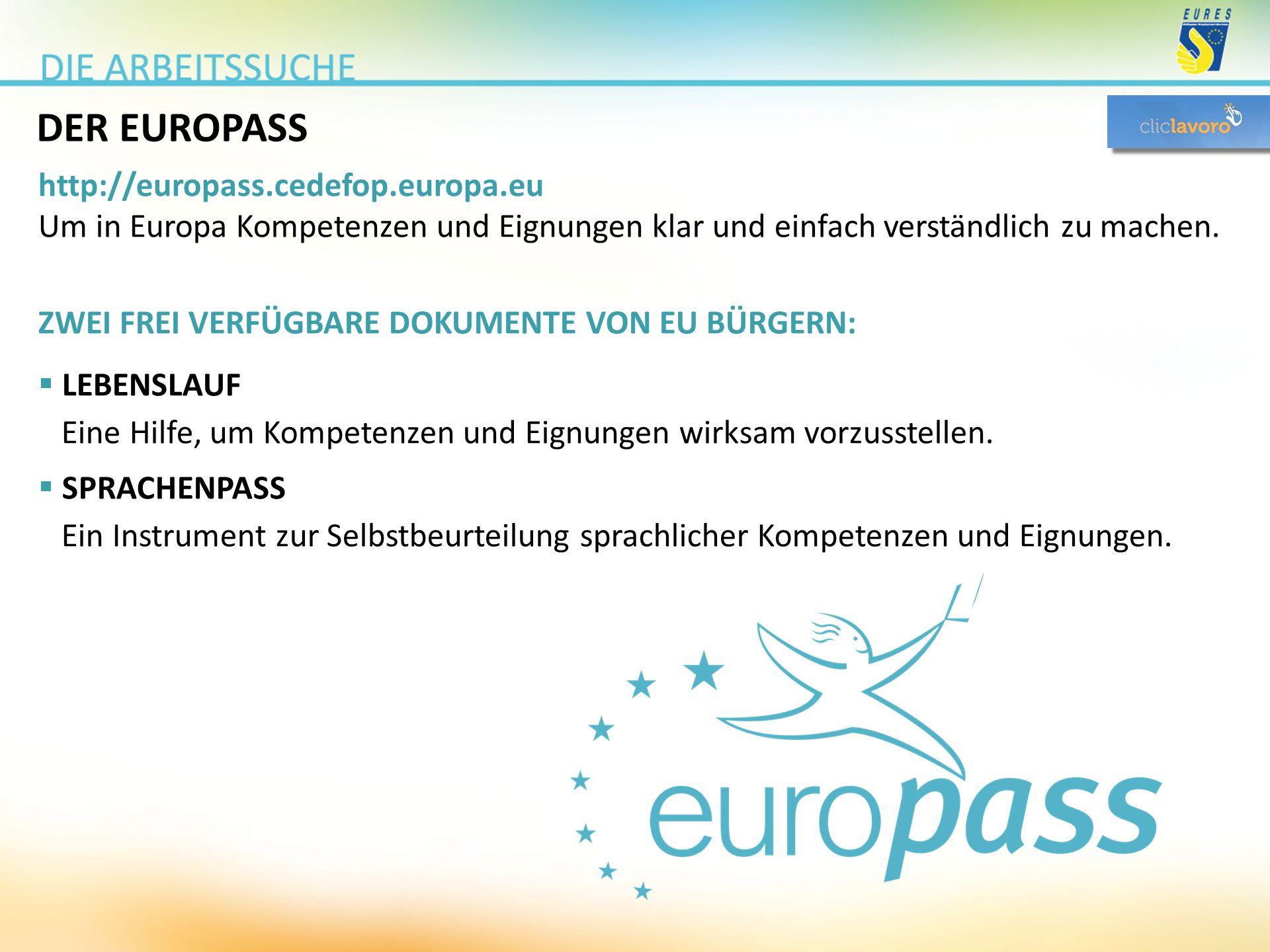 DER EUROPASS http://europass.cedefop.europa.eu