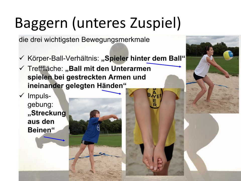 Baggern (unteres Zuspiel)