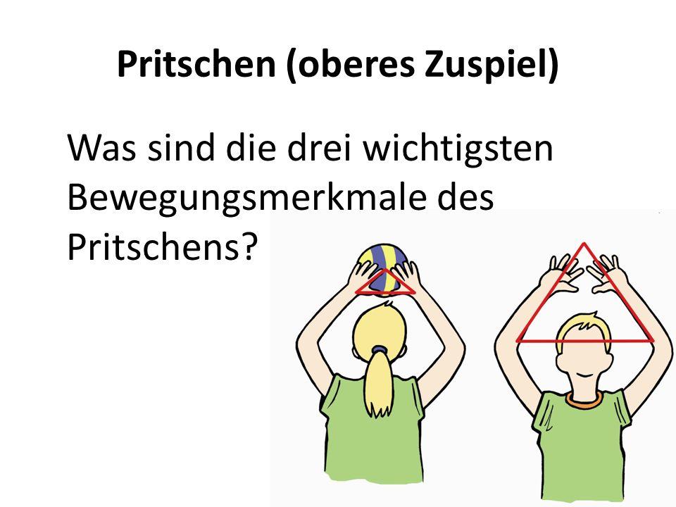 Pritschen (oberes Zuspiel)