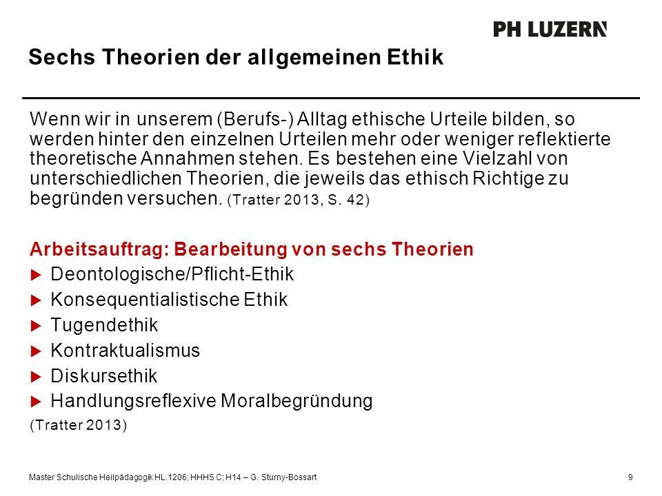 Sechs Theorien der allgemeinen Ethik