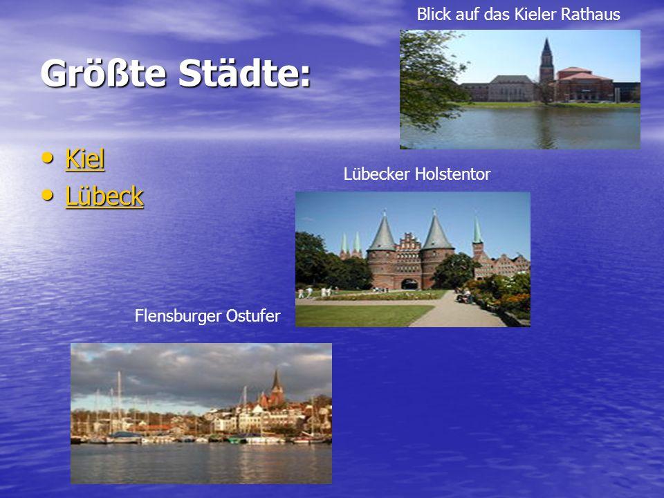 Größte Städte: Kiel Lübeck Blick auf das Kieler Rathaus