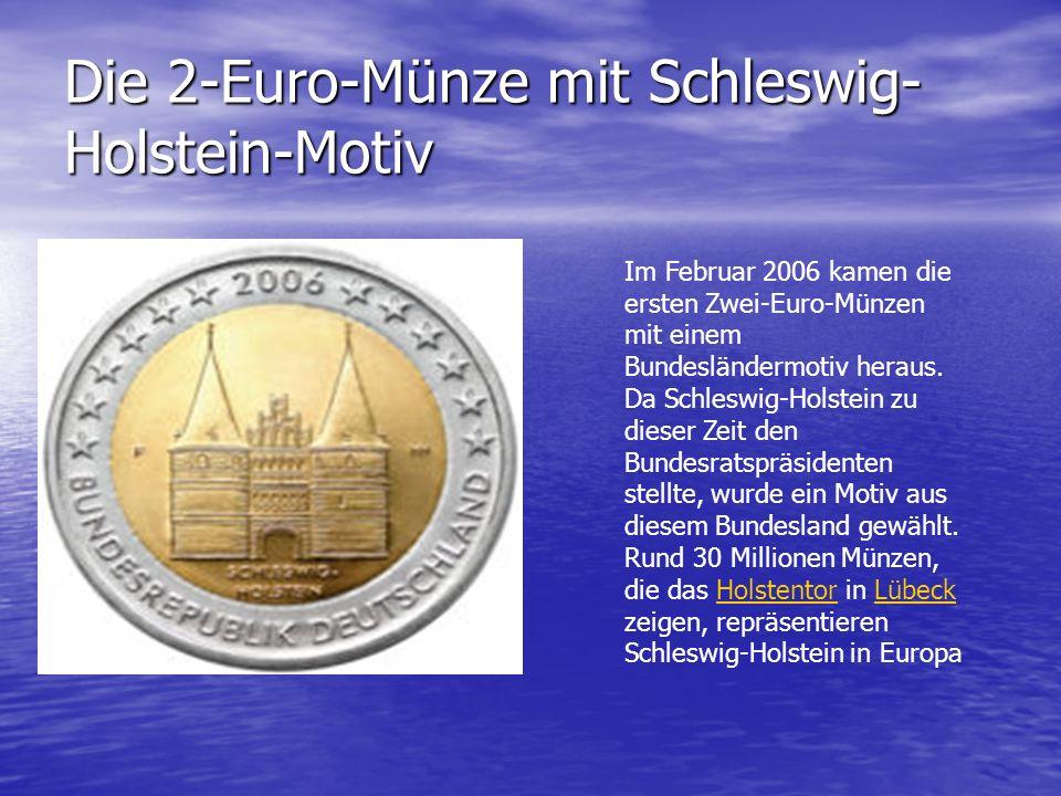 Die 2-Euro-Münze mit Schleswig-Holstein-Motiv