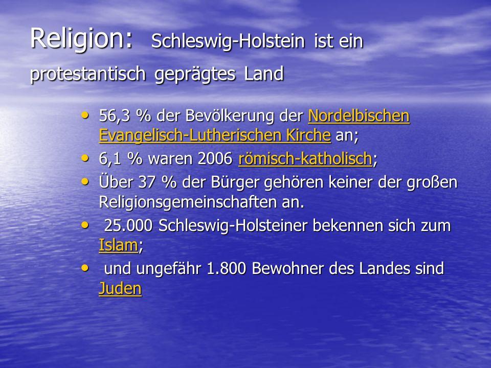 Religion: Schleswig-Holstein ist ein protestantisch geprägtes Land