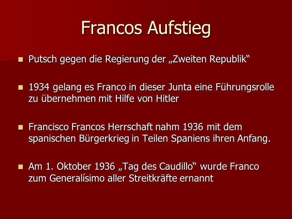 """Francos Aufstieg Putsch gegen die Regierung der """"Zweiten Republik"""