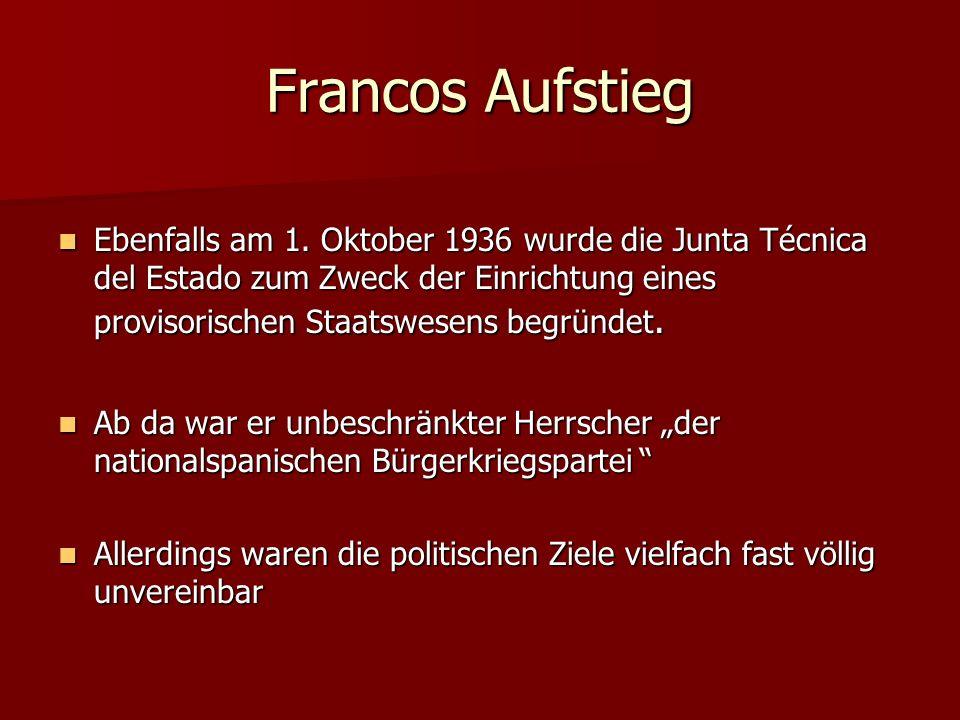 Francos Aufstieg